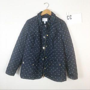 Macy's | Charter Club polka dot jacket Sz M